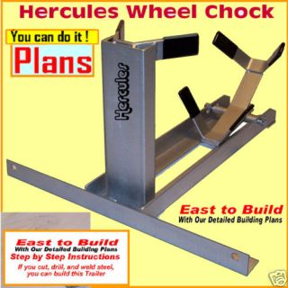Plans Motorcycle Wheel Chock Trailer Carrier Lift Cargo