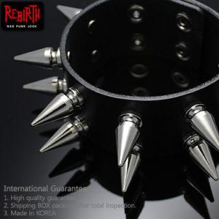 Gothic Punk Rock Emo Spike Studs Bracelet Wristband