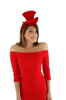 Victorian Red Adult Child Kids Cocktail Costume Top Hat Elope
