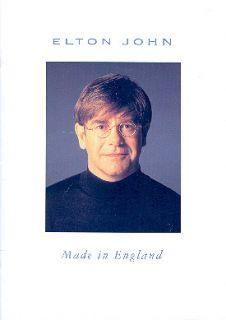 Elton John 1995 Made in England Tour Concert Program Book