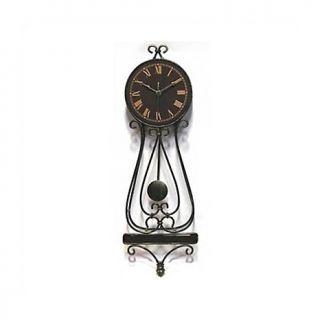 Celona Wrought Iron Scroll Ridgeway 36 Wide Wall Clock