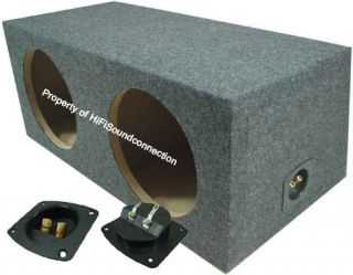 CAR AUDIO DUAL SUBWOOFER ENCLOSURE SEALED BASS STEREO10 INCH SPEAKER