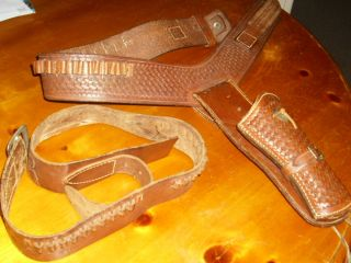 western leather belt holster