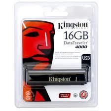 Kingston DataTraveler 4000 16GB Secure USB Flash Drive 256 bit AES