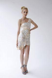Emanuel UNGARO Floral Print Cascading Dress $2210 6 New