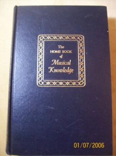 the home book of musical knowledge david ewen leather first edition