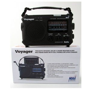 Voyager KA500 Solar Hand Crank Weather Alert Emergency Radio