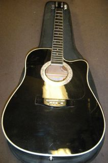 Esteban Limited Edition Midnight Steel Acoustic Electric Guitar w Case