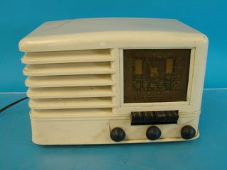 Emerson CO269 Antique Tube Radio White Plaskon Deco Cabinet Parts