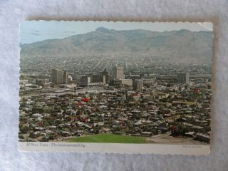 vc411) El Paso Texas   The International City Postcard