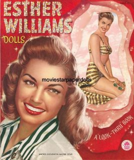 Vintage Esther Williams Paper Doll Laser Repro FREESHW2