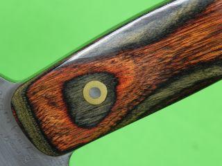 US Custom Hand Made ELDEN COURTNEY Hunting Fighting Knife & Sheath