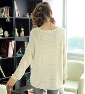 Women Ladies Simple Casual Blouse Purity Top Shirt Jumpers Knit 4clr