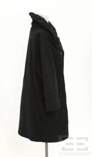 Etoile Isabel Marant Black Canvas Cotton Gathered Collar Jacket Size 2