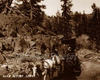 Glen Alpine Stagecoach Stage Coach Lake Tahoe CA Photo