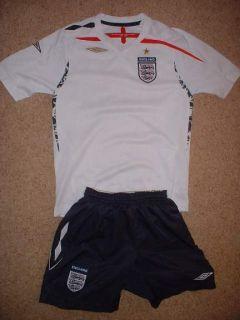 England Football Soccer Uniform Shirt Jersey Shorts 32