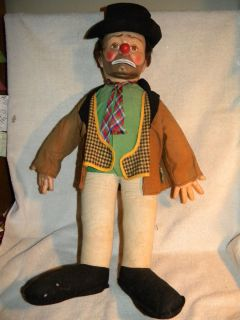 EMMETT KELLY WILLIE the CLOWN HOBO DOLL BABY BARRY TOY NYC 22 INCHES W