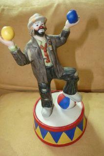 Emmett Kelly Jr Be A Clown Juggling Figurine by Flambro San Fran Music