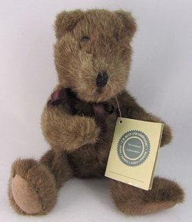 Boyds Collection J B Bean Brown Plush Stuffed Teddy Bear EUC 1985 Boyd