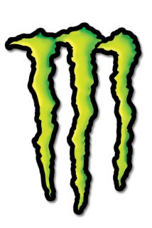 Monster logo energy drink M logo Vinyl Decal Sticker All sizes