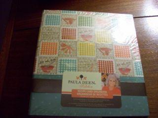 Paula Deen Recipe Card Organizer Patchwork