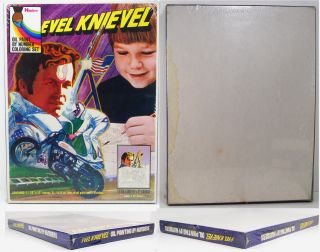 evel knievel 1974 hasbro oil paint by no mib