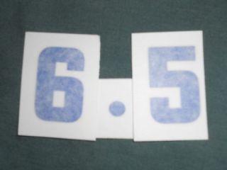 Chevrolet 6 5 396 Engine ID Stickers Decals Set Blue