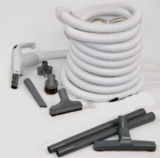 Deluxe Central Vac Kit with Eureka Power Nozzle 30 Hose PT or DC