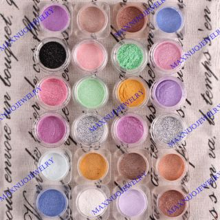 24pc Color Bare Eyeshadow Pigment Minerals Makeup x24 1