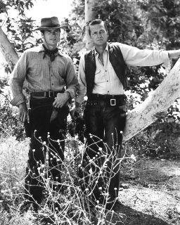 Clint Eastwood Eric Fleming Rawhide Western Cowboy Foto