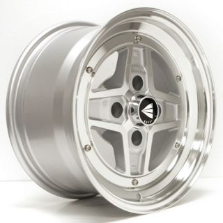 ENKEI APACHE II Silver Machined 15x8 4x114.3 +0 CLASSIC Series Wheel