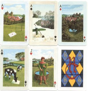 Mediaeval Themed Design Playing Cards Dutch Artist 1998