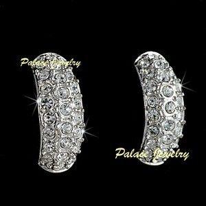 Elegant Earrings WH Gold Use Swarovski Crystal E703