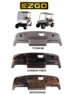 EZGO TXT Golf Cart Dash Cover Carbon Wood Titanium