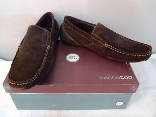 Sacha Too Eric Driving Shoe Loafer Brown Suede 8 M