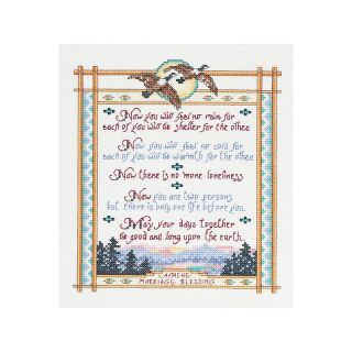 Apache Wedding Bless 14 Count Cross Stitch Kit   8 x 10in