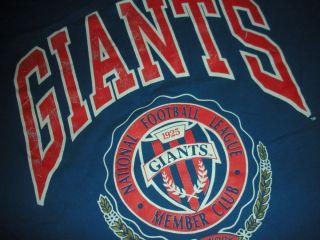 York Giants Nutmeg Sports NFL T Shirt tee size XL Eli Manning 90s rare