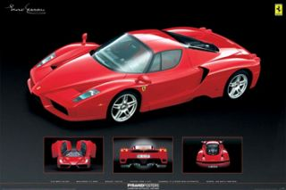 ferrari enzo 4 shot official car poster sportscar