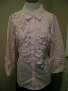 Edition by Erin Fetherston Floral Detail Shirt Pink M