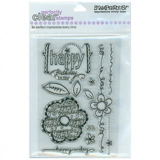 106 1614 scrapbooking stampendous perfectly clear stamp set birthday