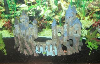 Extra Large Penn Plax 2 Piece Castle XL Aquarium Fish Tank