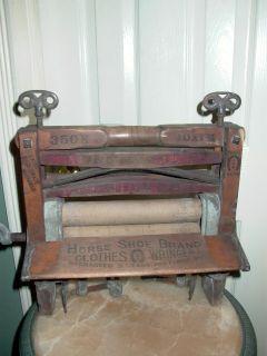 Antique Primitive 1888 Horse Shoe Brand Clothes Wringer