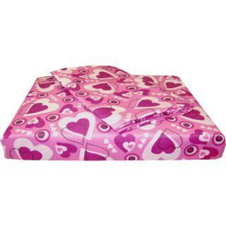 nEw 3pc PINK PURPLE HEARTS Extra Long TWIN SHEET SET Deep Pocket Heart
