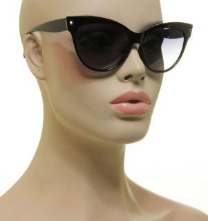 New Classic Design Cat Eye Retro Style Fashion Sunnies Black Frame