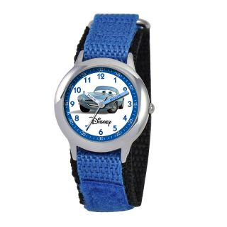 111 6253 disney cars kid s stainless steel time teacher watch blue