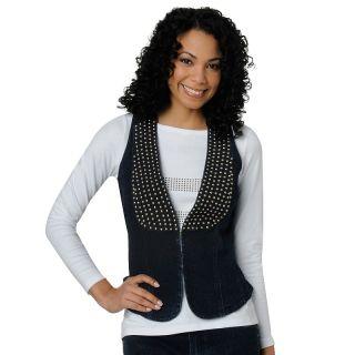 114 862 diane gilman dg2 stretch denim studded vest rating 14 $ 34 90