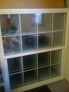 Vinyl Windows NEW Single Hung Double Pane New Construction w Grids
