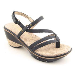 JAMBU Espy Platform Wedge Shoes Black Womens