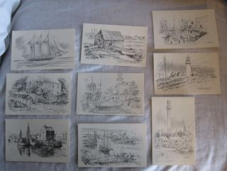JAS F MURRAY LOT OF 9 Postcards FREE SHIP James Cape Cod MA