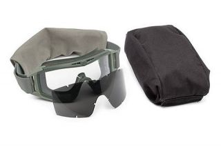 Ballistic Goggles Essential Kit, Foliage Green w/ Clear, Solar Lenses